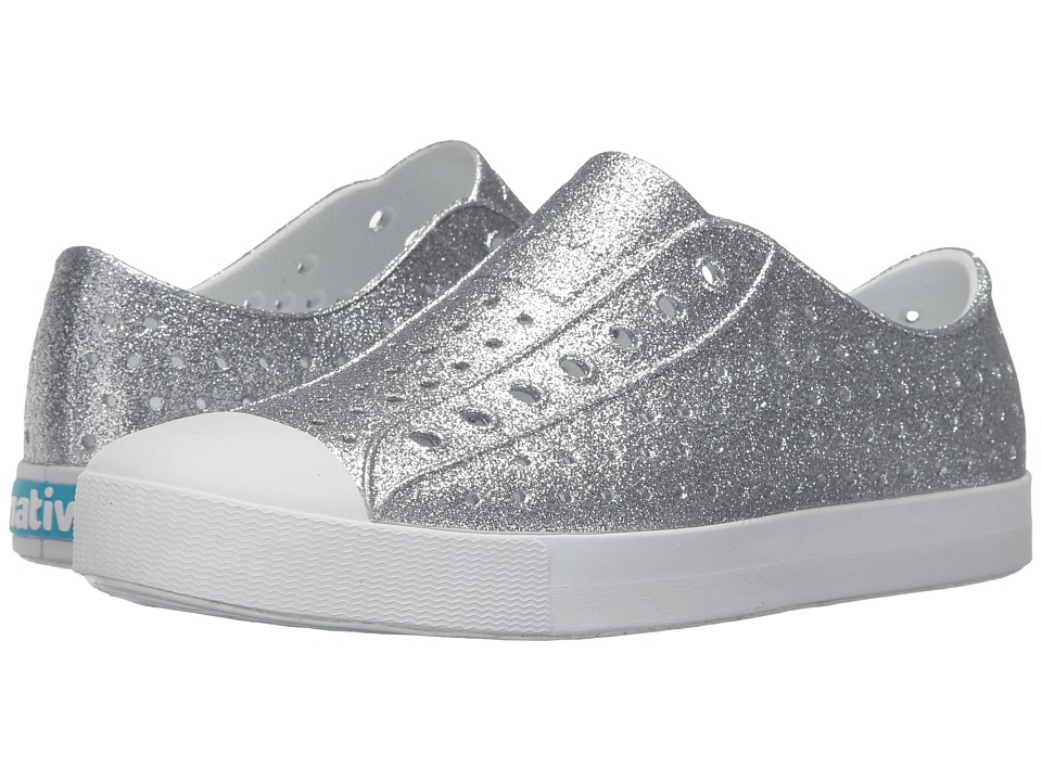 Native Shoes - Jefferson Bling (Silver Bling/Shell White) Slip on Shoes