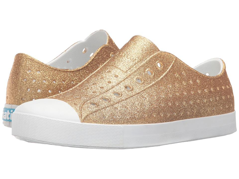 Native Shoes - Jefferson Bling (Gold Bling/Shell White) Slip on Shoes