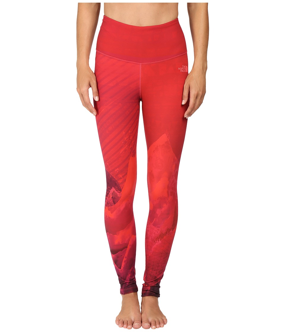 The North Face - Super Waisted Printed Leggings (Calypso Coral Mountain Print) Women's Casual Pants