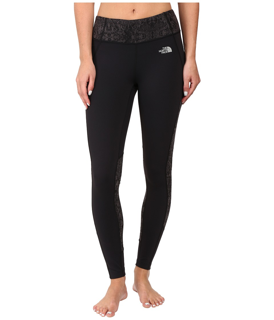 The North Face - Motivation Color Block Printed Leggings (TNF Black/TNF Black Ink Spell Print) Women's Casual Pants