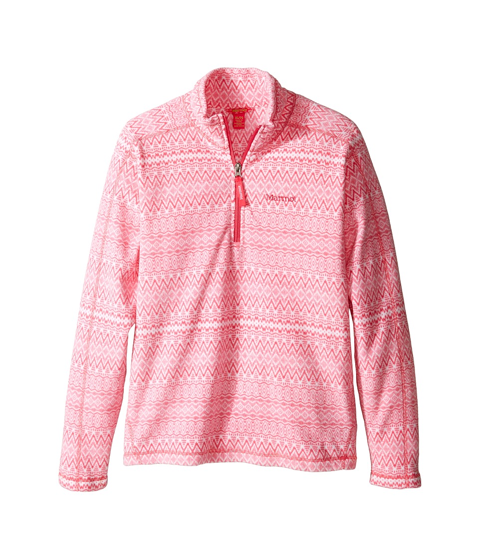 Marmot Kids - Girl's Rocklin 1/2 Zip (Little Kids/Big Kids) (Pink Rock Alps) Girl's Clothing