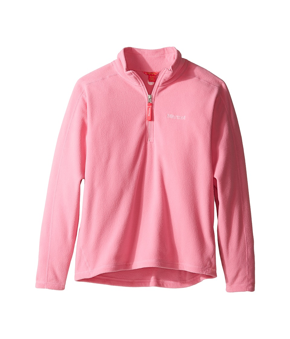Marmot Kids - Girl's Rocklin 1/2 Zip (Little Kids/Big Kids) (Pink Lotus) Girl's Clothing
