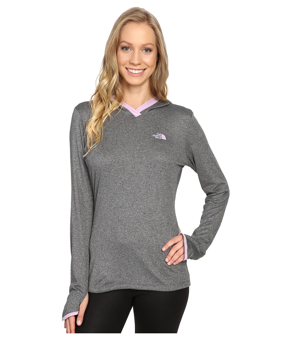 The North Face Reactor Hoodie (TNF Medium Grey Heather/Lupine) Women