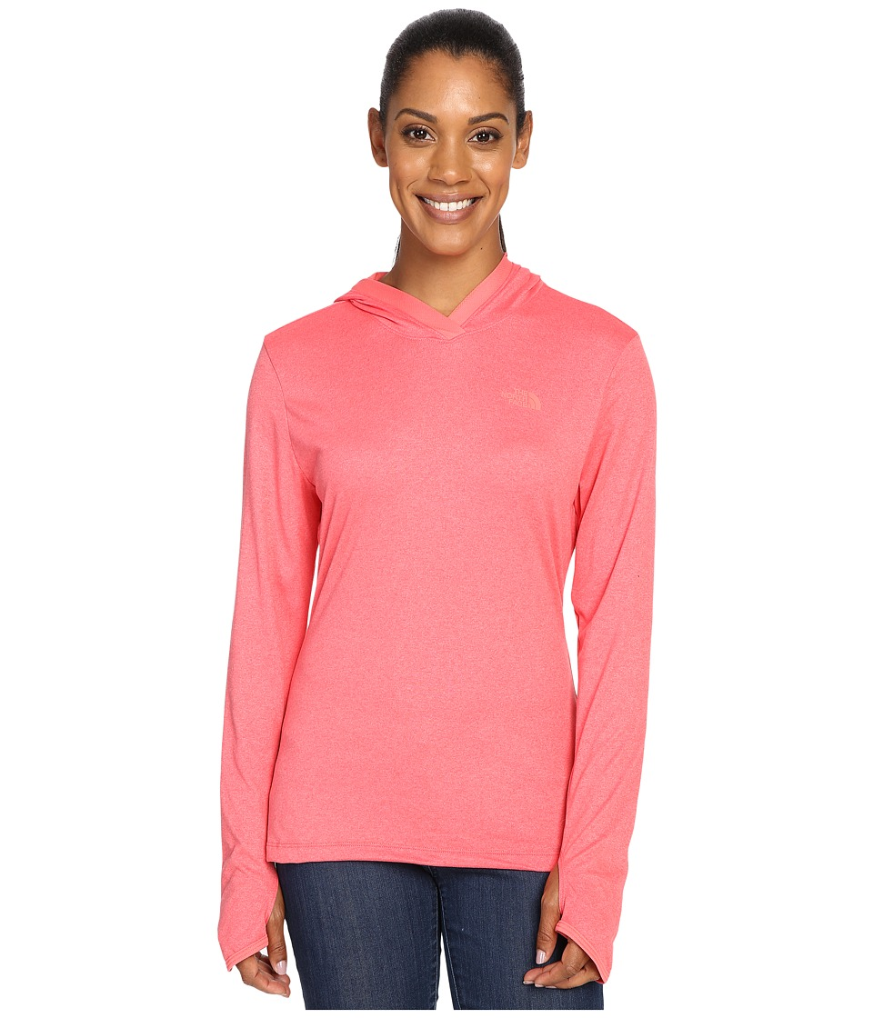 The North Face Reactor Hoodie (Calypso Coral Heather/Calypso Coral) Women