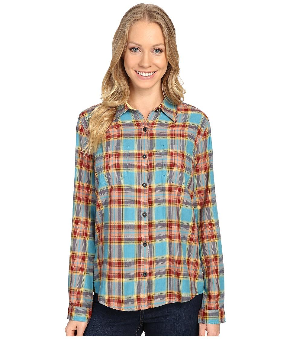 Royal Robbins - Cottonwood Plaid Long Sleeve (Cove) Women's Long Sleeve Button Up