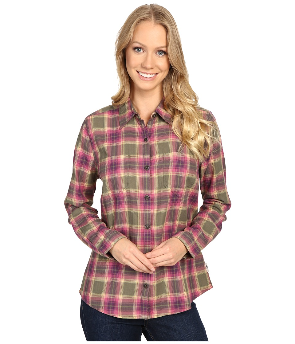 Royal Robbins - Cottonwood Plaid Long Sleeve (Light Berry) Women's Long Sleeve Button Up