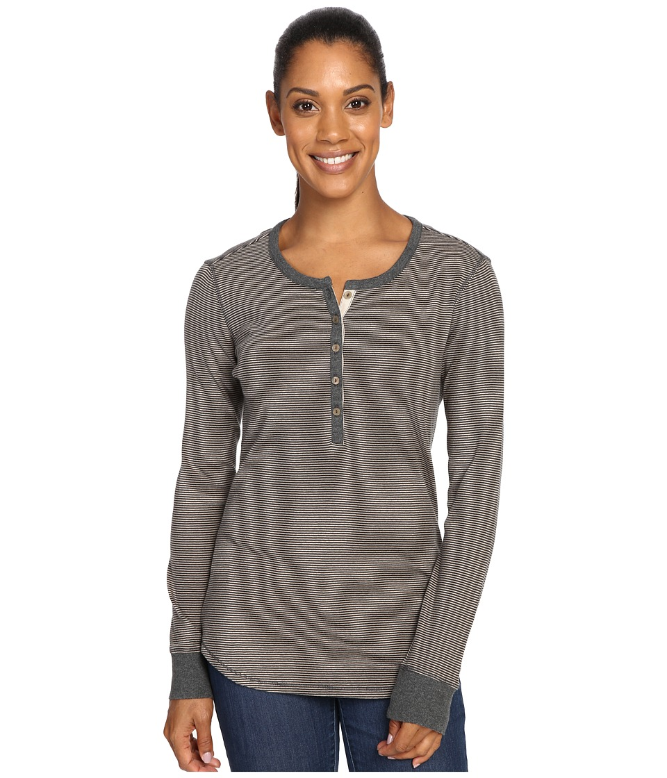 Royal Robbins - Kick Back Striped Henley (Dark Grey Heather) Women's Clothing