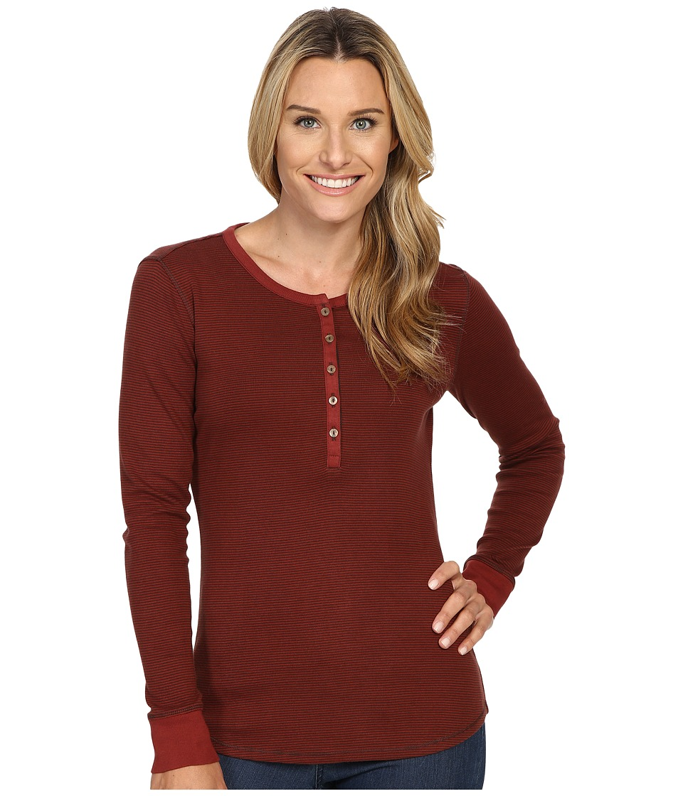 Royal Robbins - Kick Back Striped Henley (Ruby) Women's Clothing