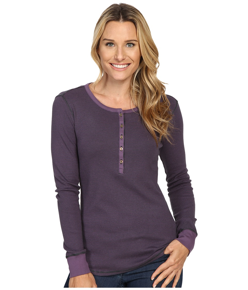 Royal Robbins - Kick Back Striped Henley (Lilac) Women's Clothing