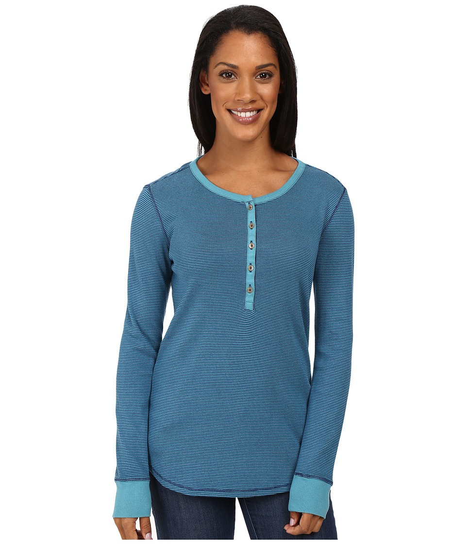 Royal Robbins - Kick Back Striped Henley (Cove) Women's Clothing