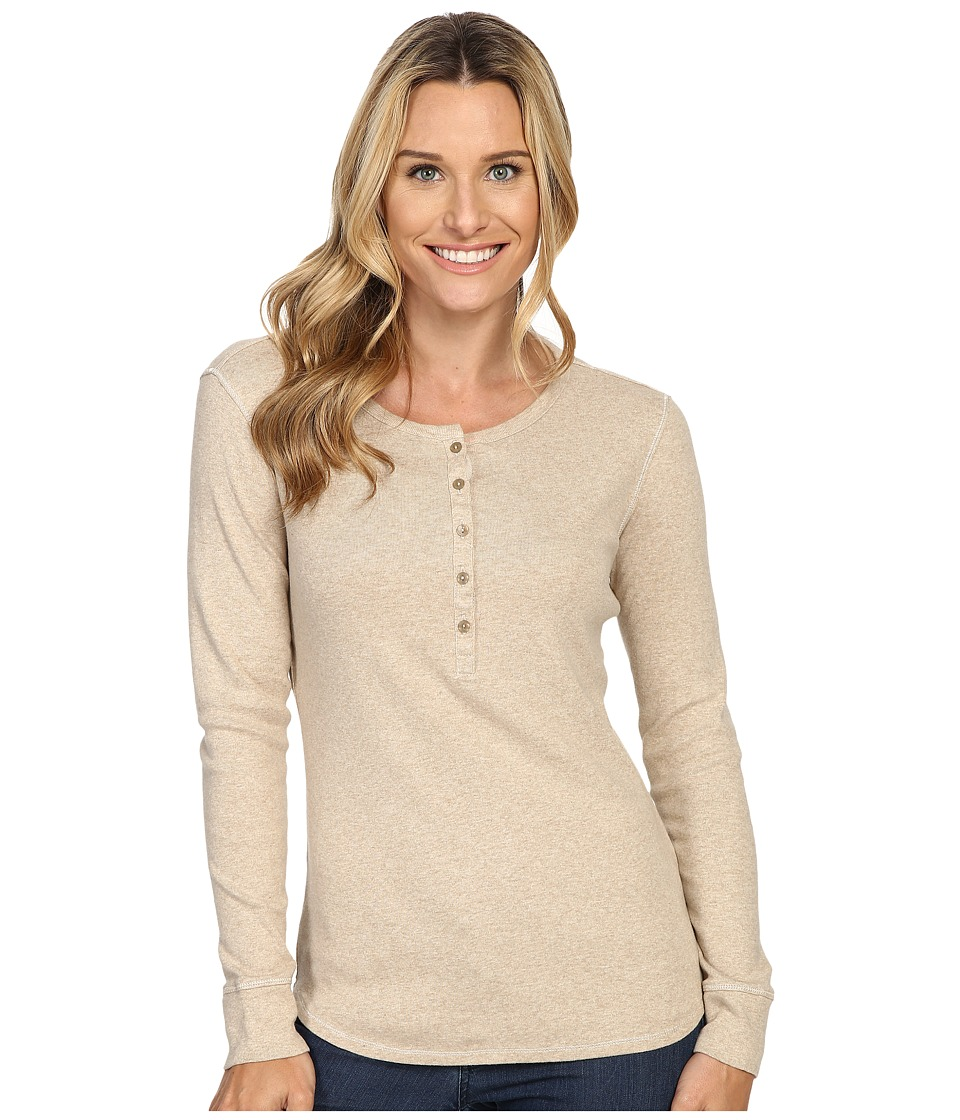 Royal Robbins - Kick Back Henley (Oatmeal) Women's Long Sleeve Pullover