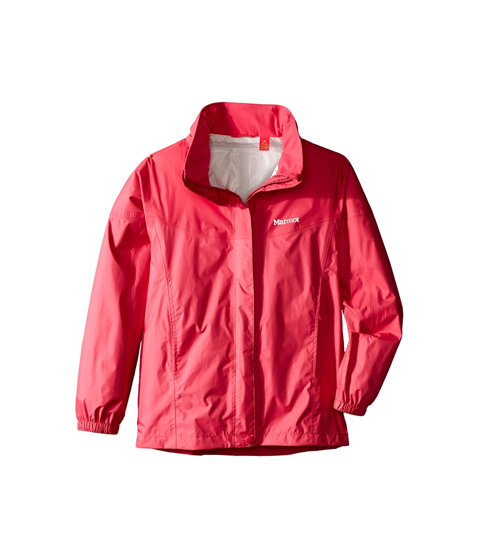 Marmot Kids - Girl's PreCip Jacket (Little Kids/Big Kids) (Pink Rock) Girl's Coat