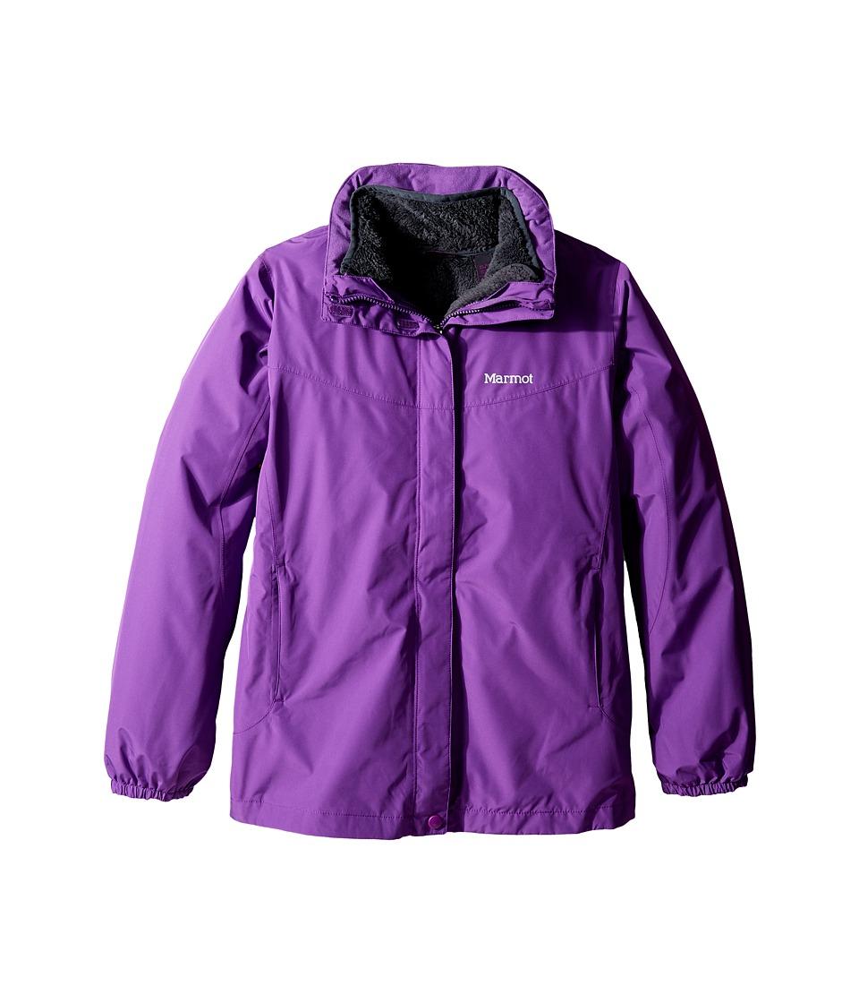 Marmot Kids - Girls' Northshore Jacket (Little Kids/Big Kids) (Mystic Purple) Girl's Coat