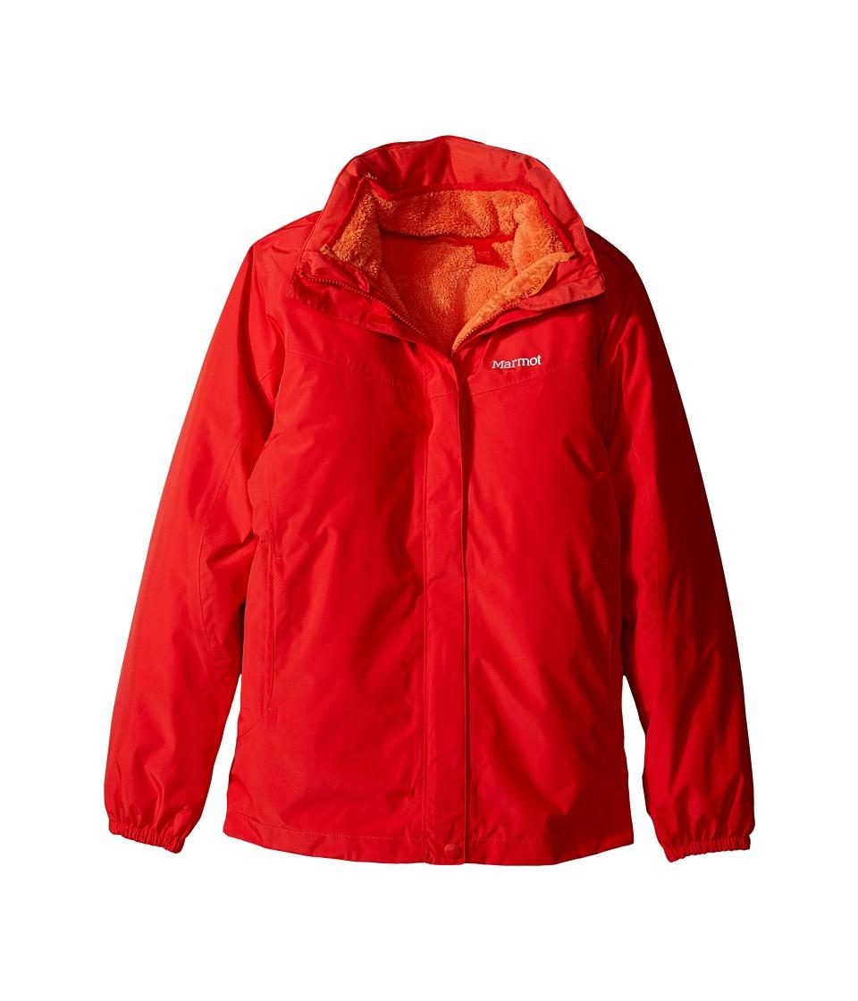 Marmot Kids - Girls' Northshore Jacket (Little Kids/Big Kids) (Scarlet Red) Girl's Coat