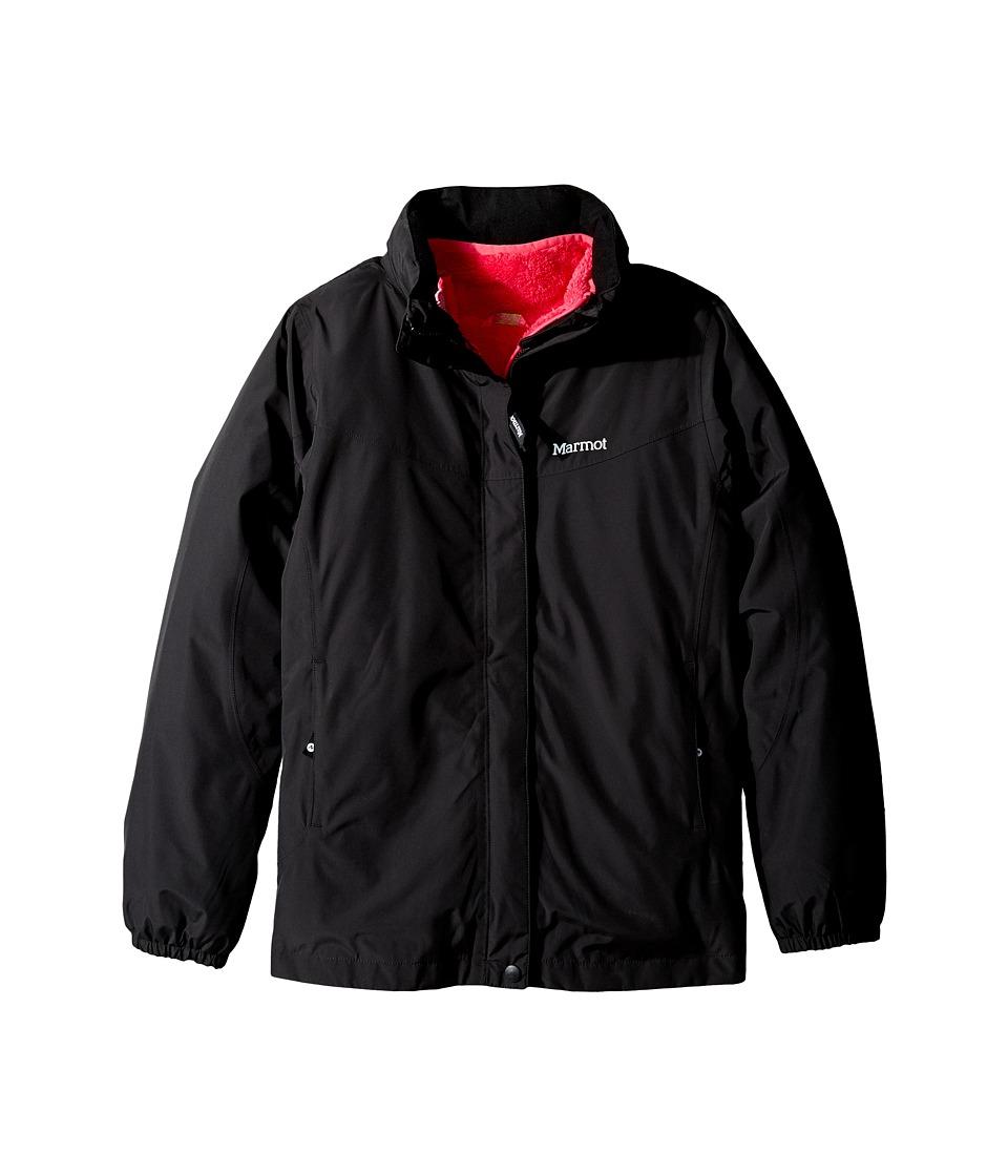 Marmot Kids - Girls' Northshore Jacket (Little Kids/Big Kids) (Black) Girl's Coat