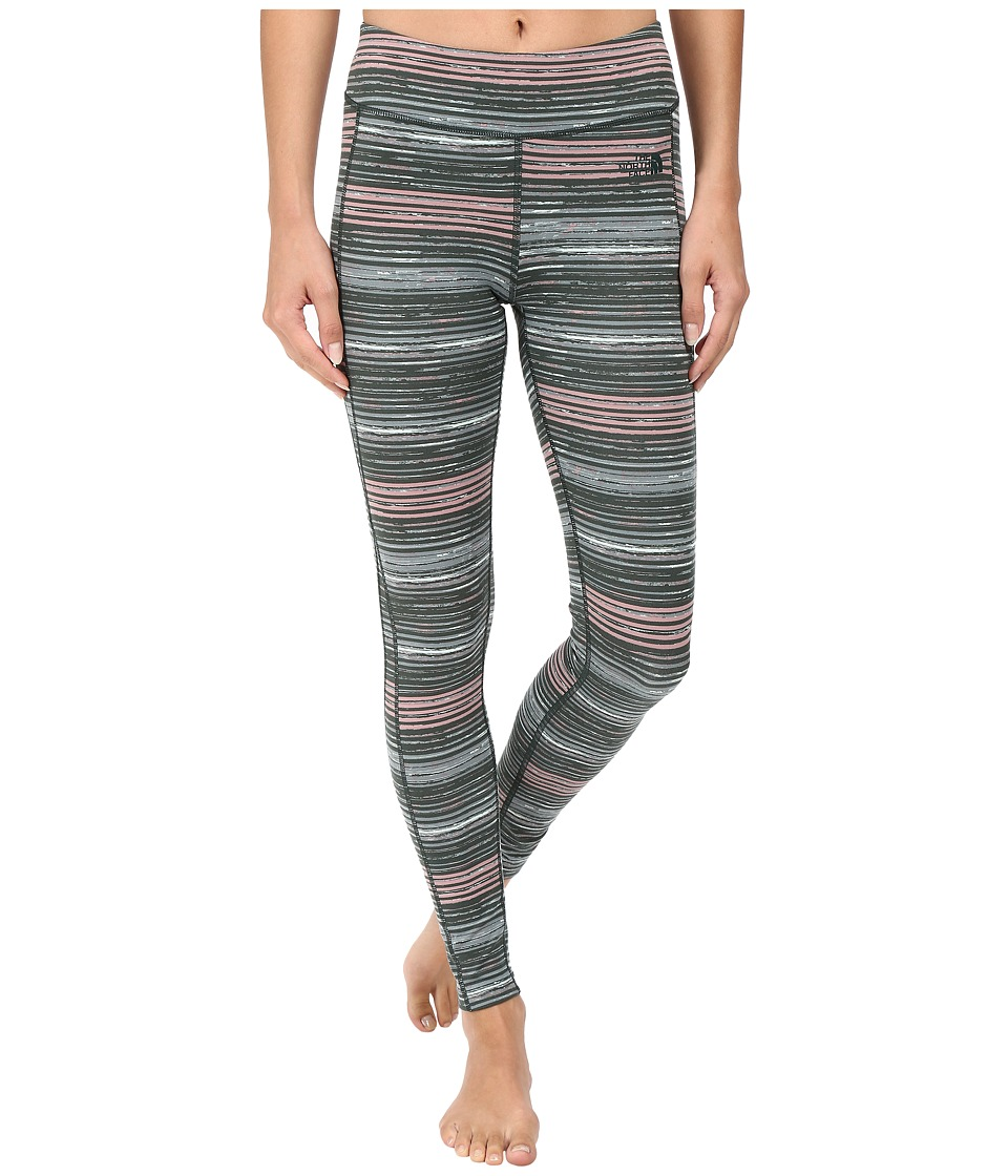 The North Face - Pulse Tight (Balsam Green Urban Sketch Print) Women's Workout