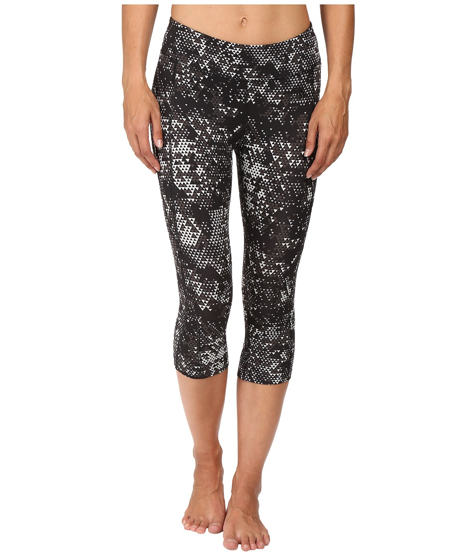 The North Face - Pulse Capri Tight (Asphalt Grey Triangle Party Print) Women's Capri