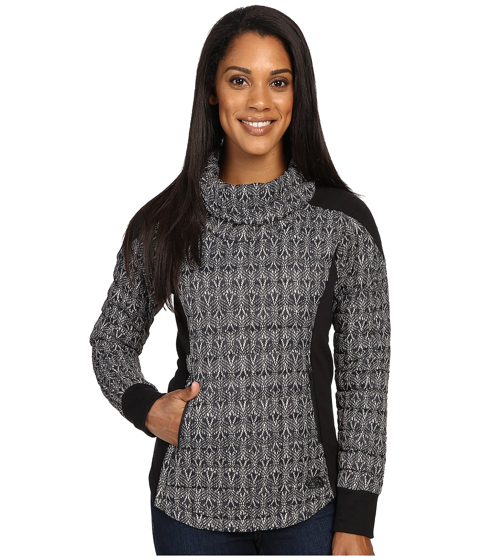 The North Face - MA ThermoBall Pullover (TNF Black Lace Print) Women's Long Sleeve Pullover