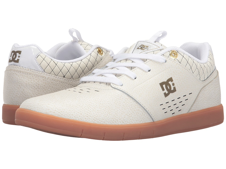 DC - Cole Signature SE (White/Gold) Men's Skate Shoes