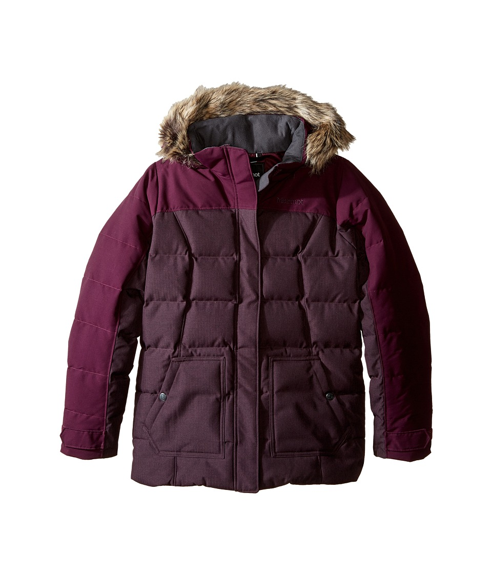 Marmot Kids - Logan Jacket (Little Kids/Big Kids) (Dark Purple) Girl's Coat
