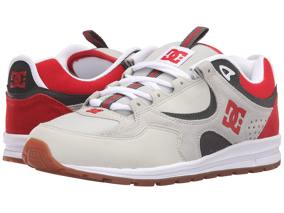 DC - Kalis Lite (Grey/Red/White) Men's Skate Shoes