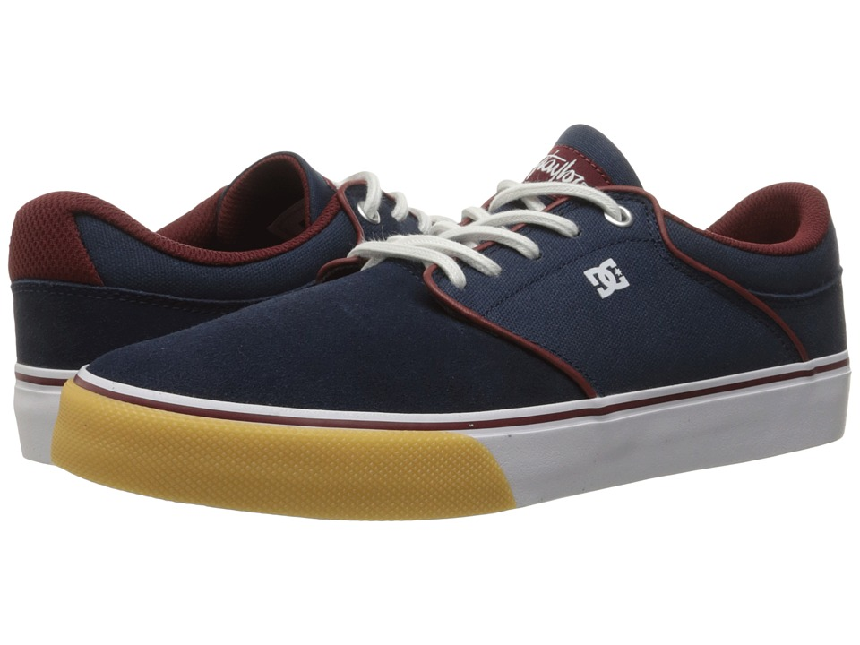 DC - Mikey Taylor Vulc (Navy/Red) Men's Skate Shoes