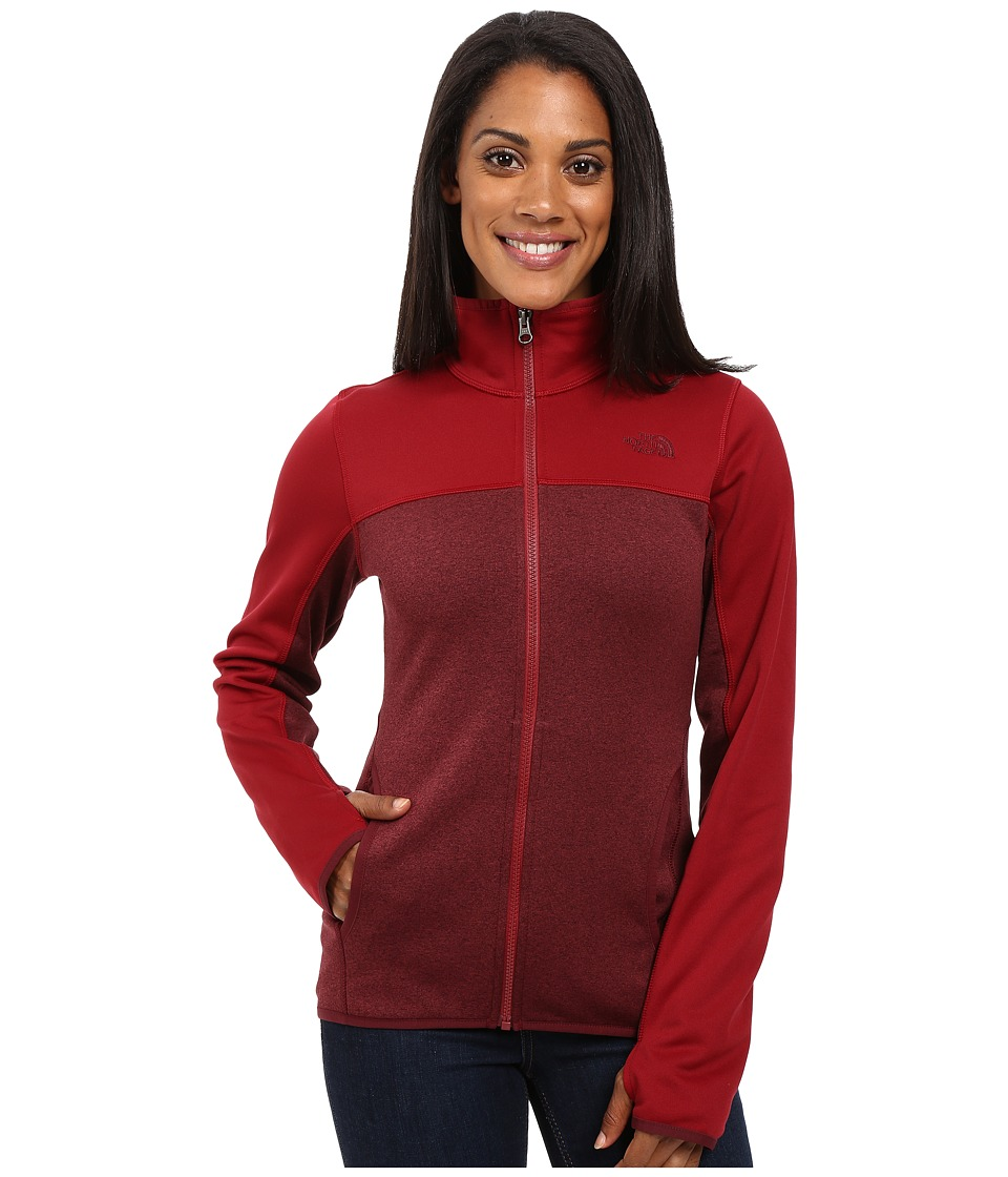 The North Face - Amazie Mays Full Zip (Deep Garnet Red Dark Heather/Biking Red) Women's Coat