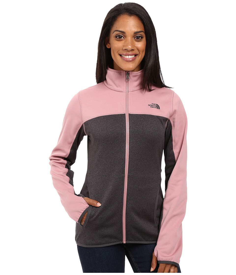 The North Face - Amazie Mays Full Zip (TNF Dark Grey Heather/Nostalgia Rose) Women's Coat