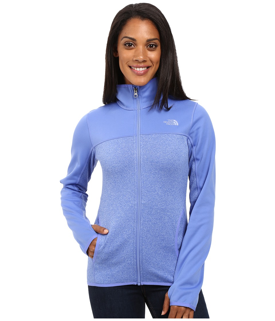 The North Face - Amazie Mays Full Zip (Stellar Blue Light Heather/Stellar Blue) Women's Coat
