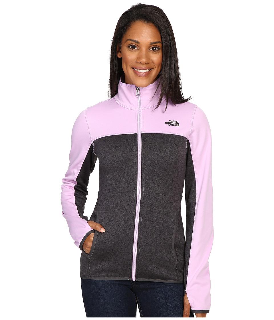 The North Face - Amazie Mays Full Zip (TNF Dark Grey Heather/Lupine) Women's Coat