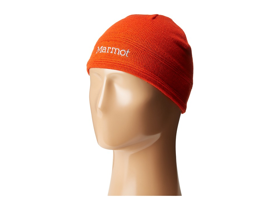 Marmot Kids - Boy's Shadows Hat (Little Kids/Big Kids) (Mars Orange) Knit Hats