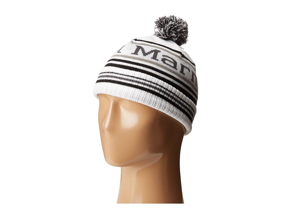 Marmot Kids - Retro Pom Hat (Little Kids/Big Kids) (White) Caps