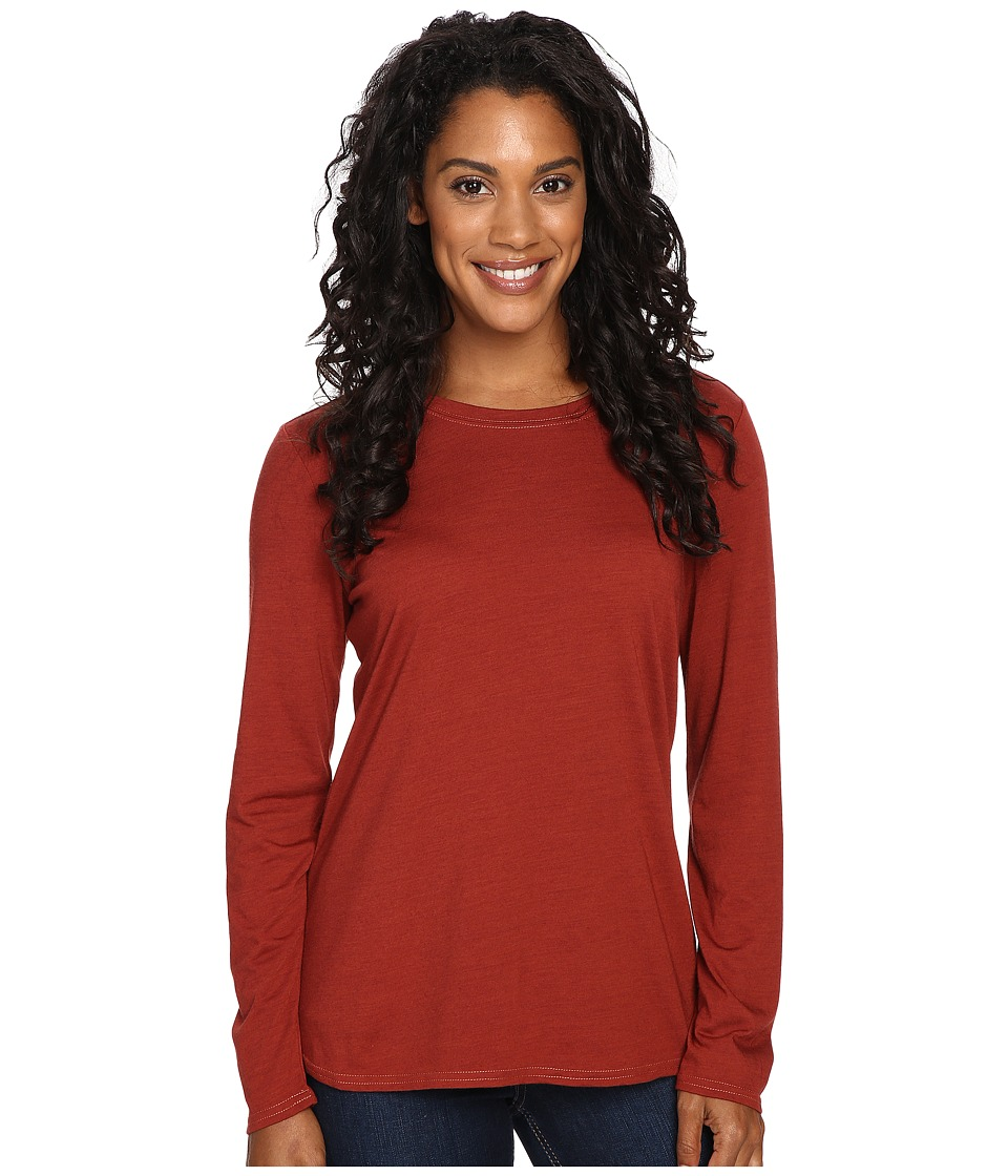 Royal Robbins Go Everywhere Merino Crew (Ruby) Women
