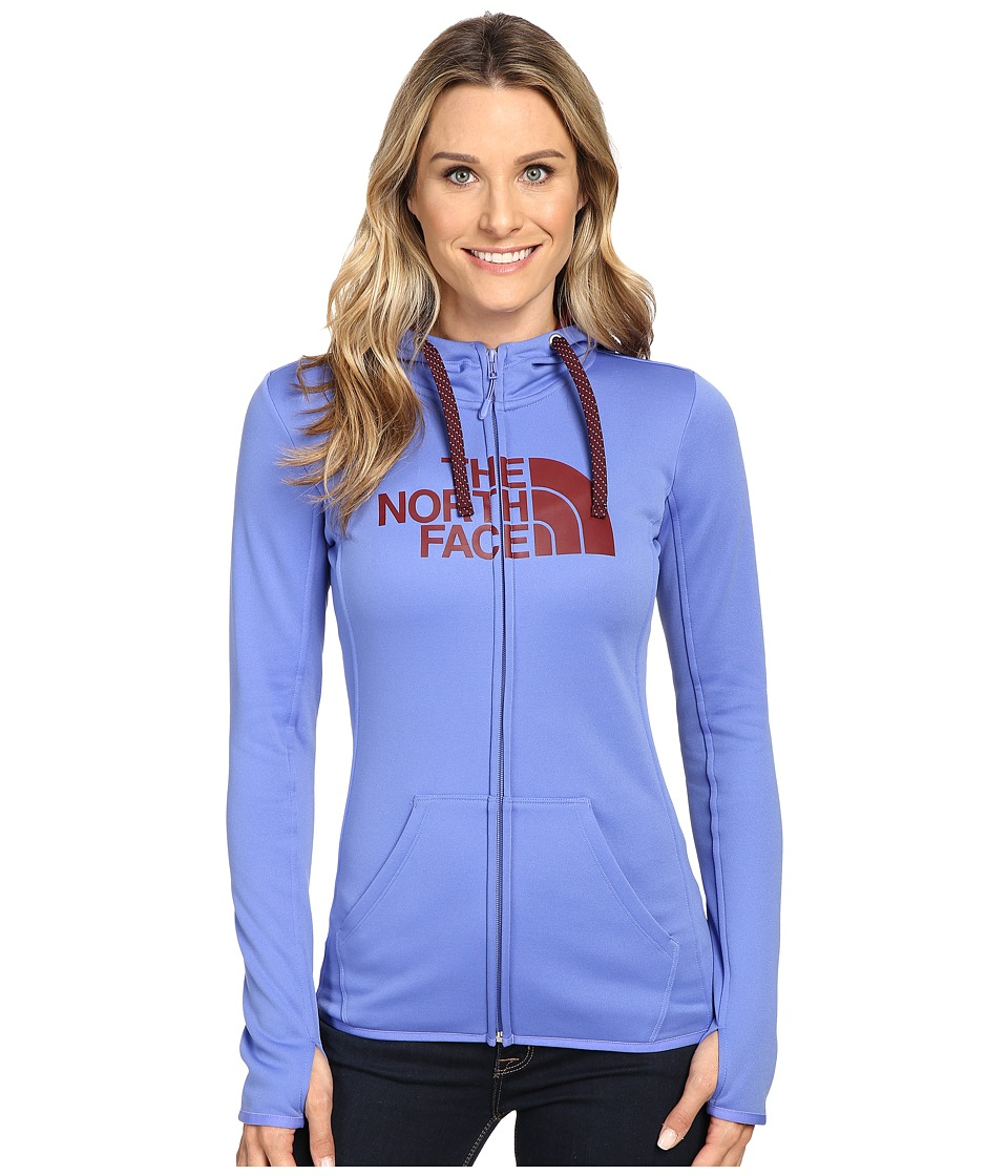 The North Face - Fave Half Dome Full Zip Hoodie (Stellar Blue/Deep Garnet Red) Women's Sweatshirt