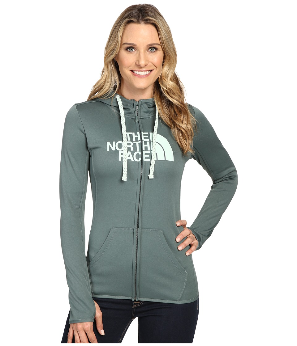 The North Face - Fave Half Dome Full Zip Hoodie (Balsam Green/Subtle Green) Women's Sweatshirt