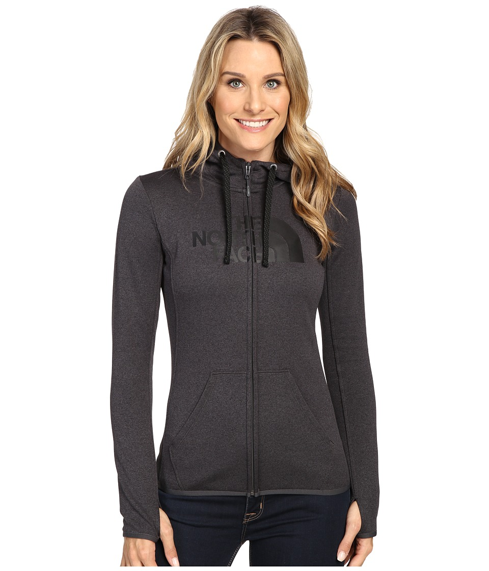 The North Face - Fave Half Dome Full Zip Hoodie (TNF Dark Grey Heather/TNF Black) Women's Sweatshirt