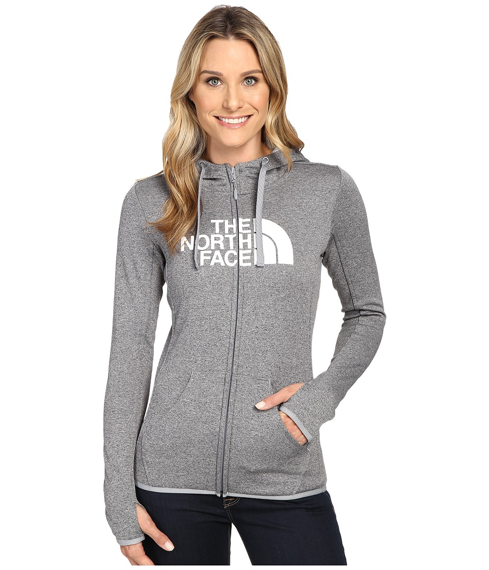 The North Face - Fave Half Dome Full Zip Hoodie (TNF Medium Grey Heather/TNF White) Women's Sweatshirt