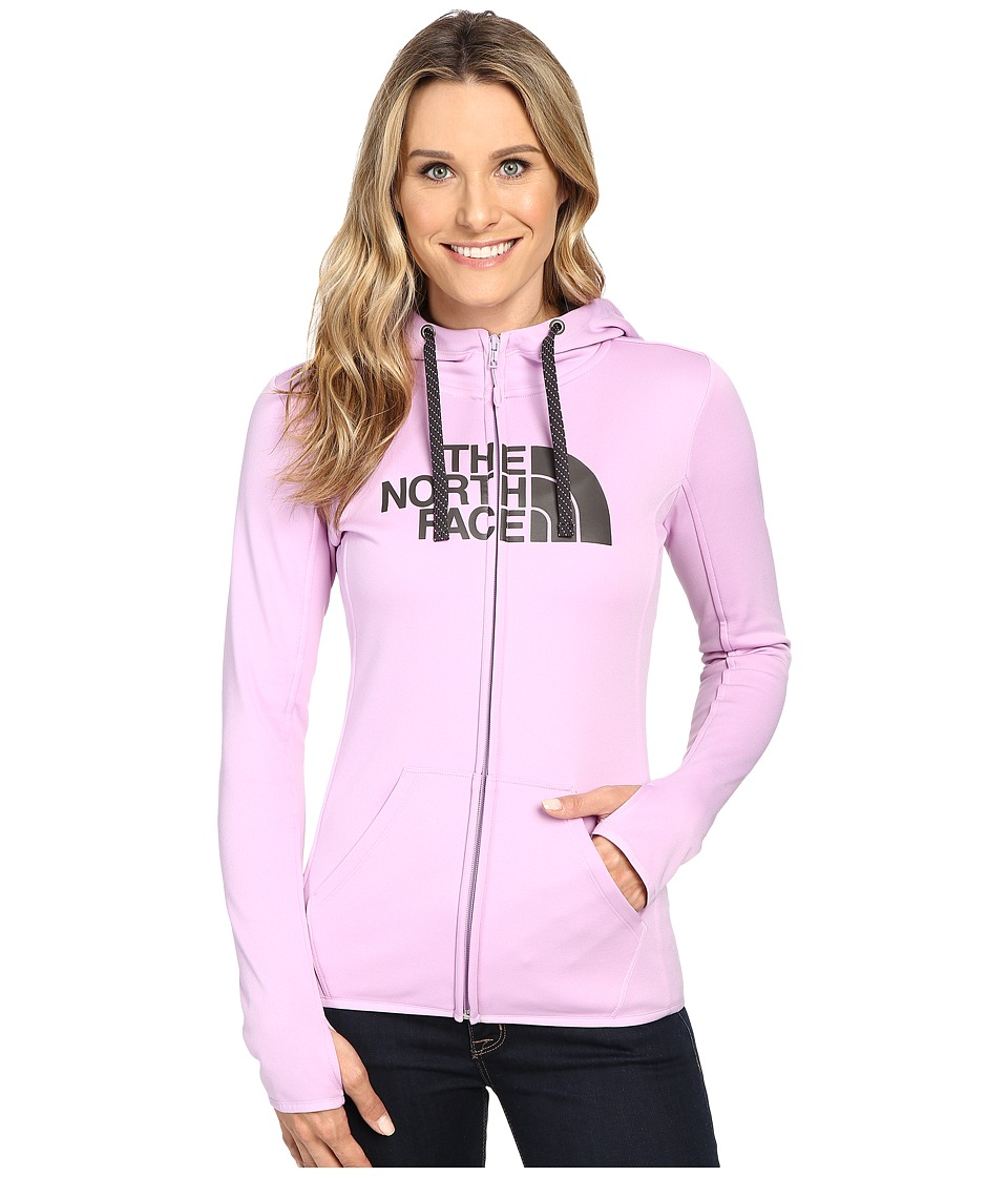 The North Face - Fave Half Dome Full Zip Hoodie (Lupine/Asphalt Grey) Women's Sweatshirt