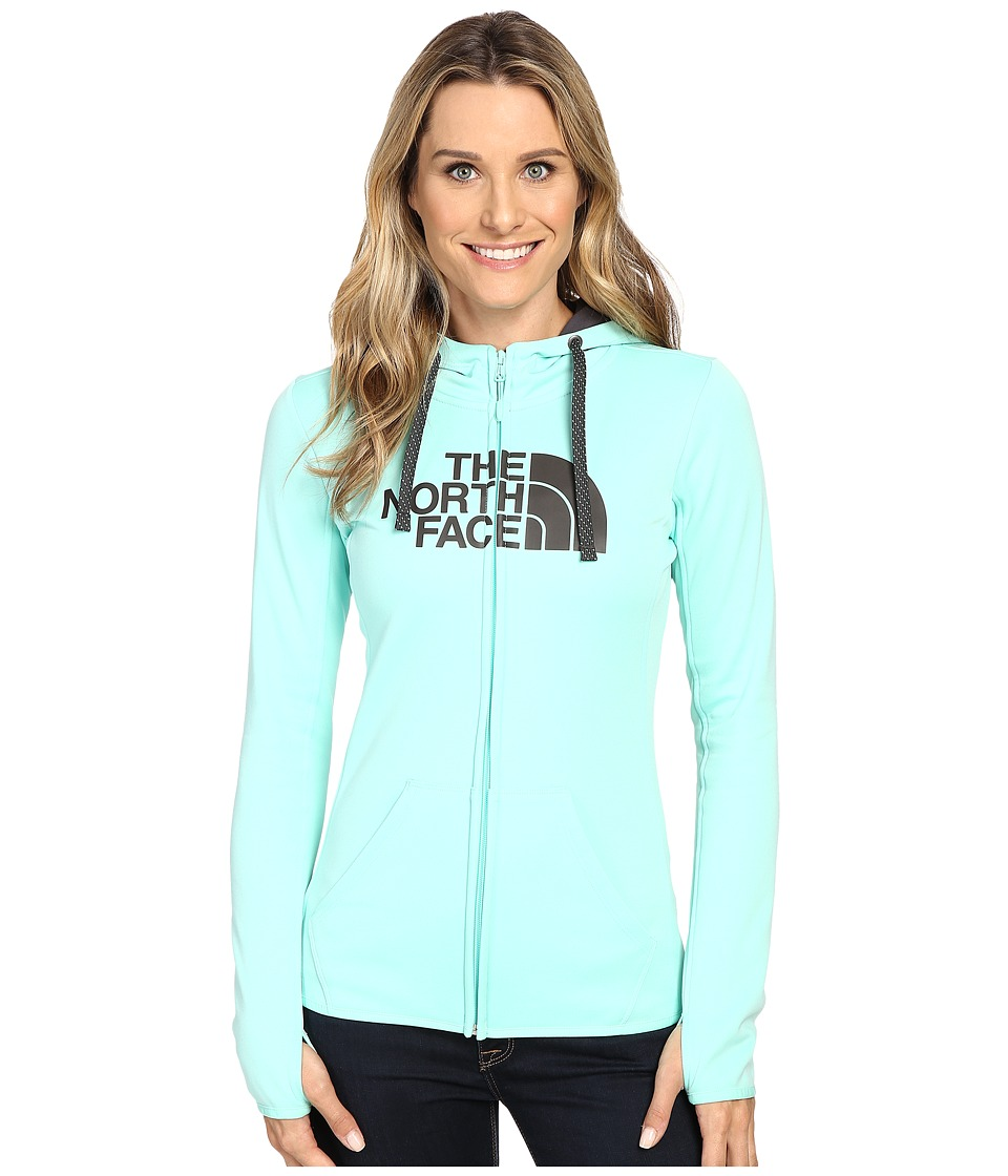 The North Face - Fave Half Dome Full Zip Hoodie (Ice Green/Asphalt Grey) Women's Sweatshirt