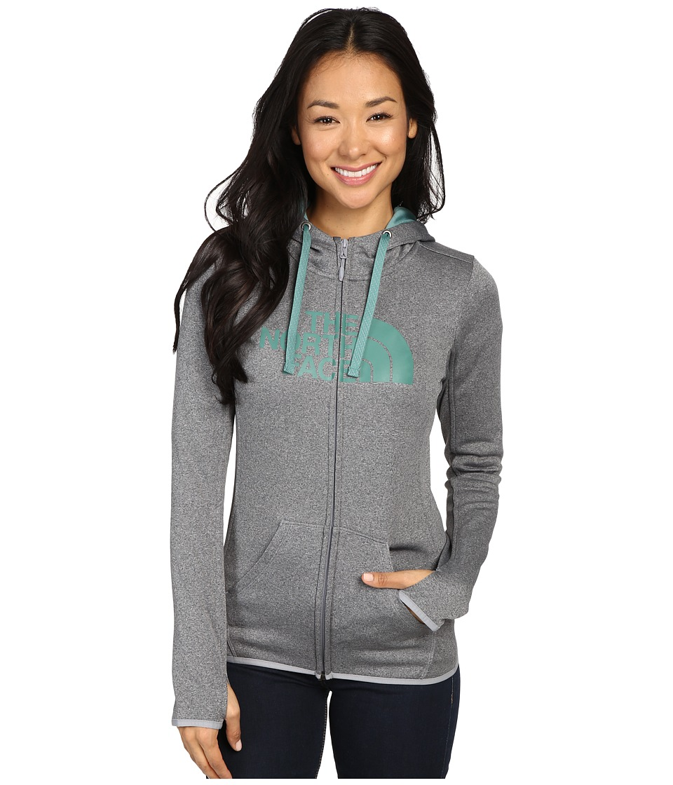 The North Face - Fave Half Dome Full Zip Hoodie (TNF Medium Grey Heather/Deep Sea) Women's Sweatshirt