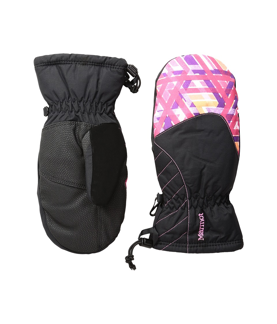 Marmot Kids - Glade Mitt (Little Kids/Big Kids) (Pink Lotus Geo) Extreme Cold Weather Gloves