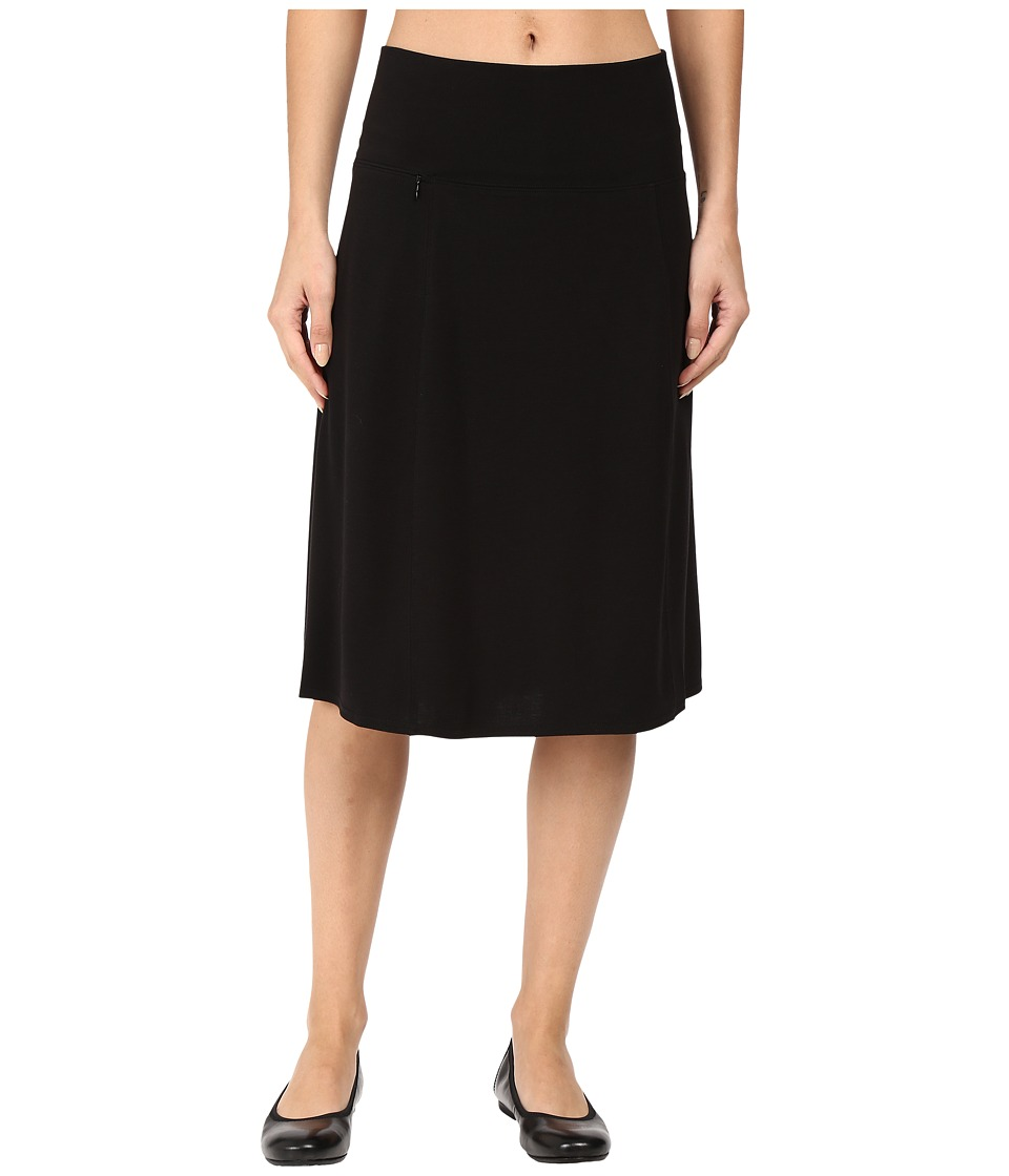 Royal Robbins - Essential Tencel Skirt (Jet Black) Women's Skirt