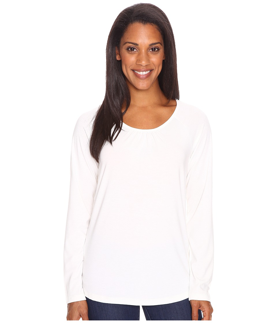 Royal Robbins - Essential Tencel Crew (Cr me) Women's Long Sleeve Pullover