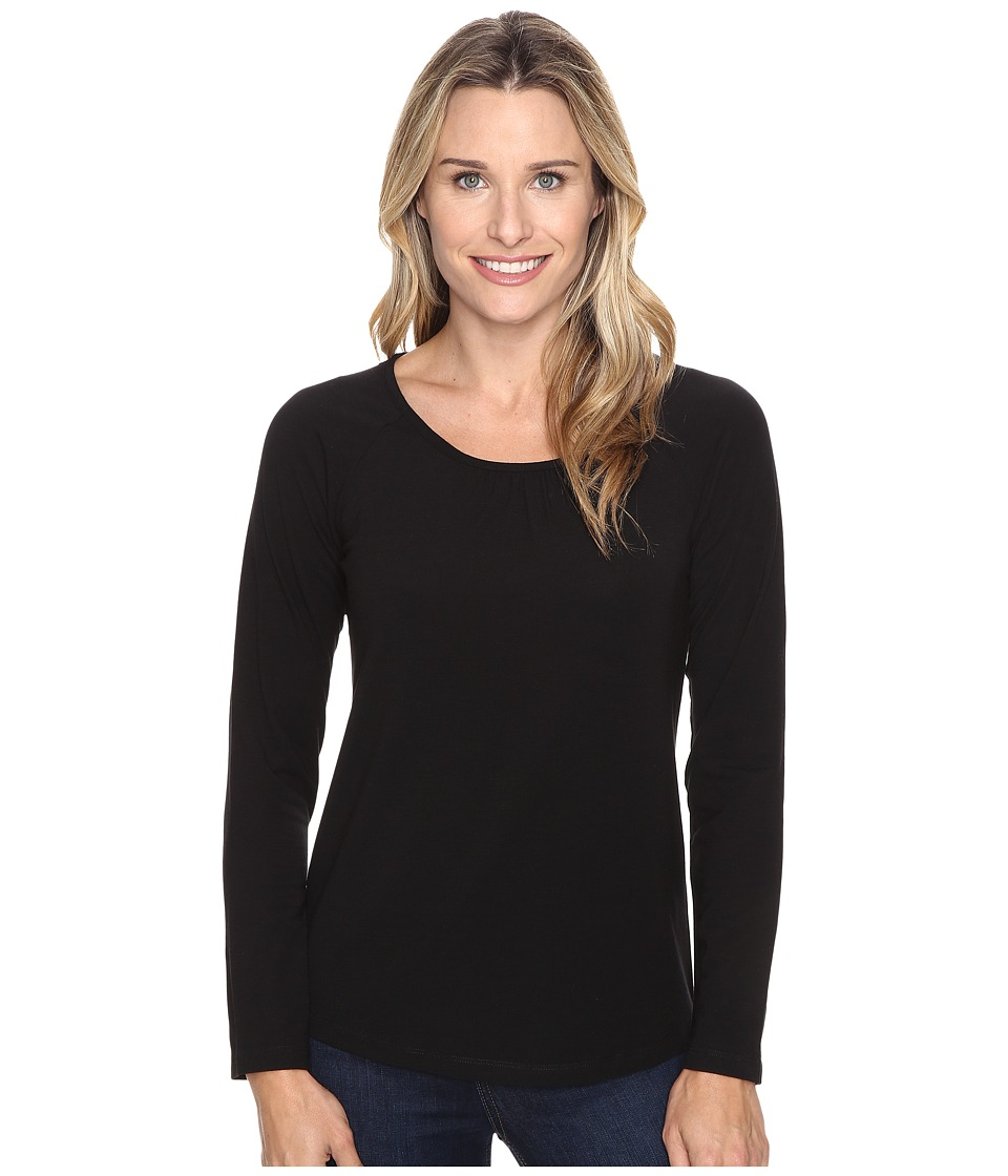 Royal Robbins - Essential Tencel Crew (Jet Black) Women's Long Sleeve Pullover