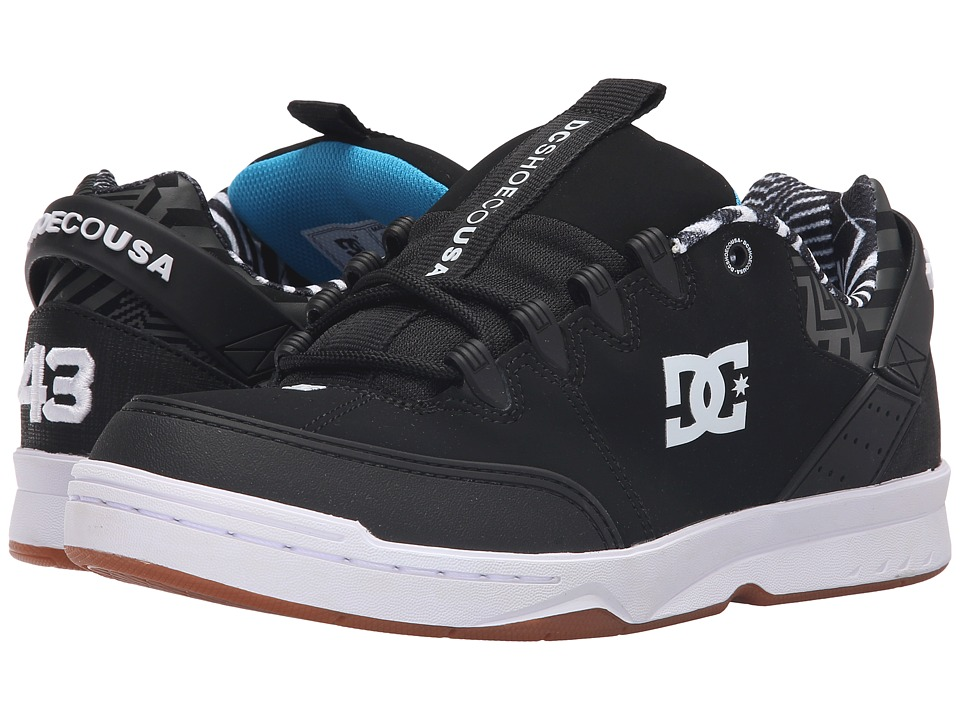 DC - Syntax KB (Black/White/Gum) Men's Skate Shoes