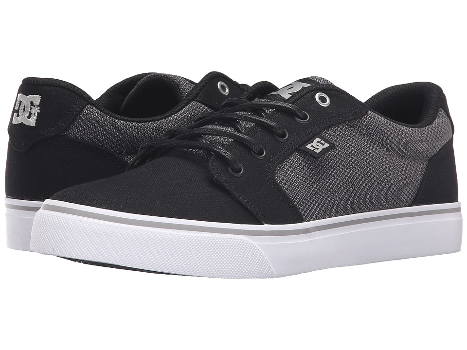 DC - Anvil TX SE (Black/Grey/Grey) Men's Shoes