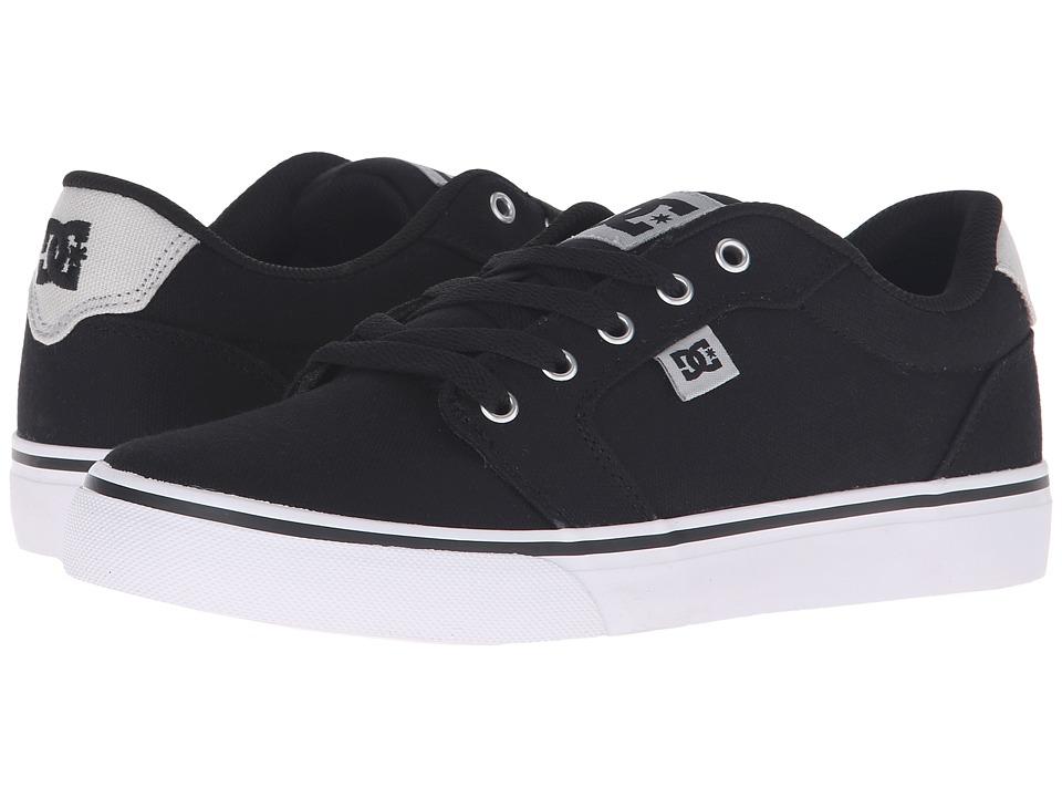 DC - Anvil TX (Black/Grey) Men's Skate Shoes