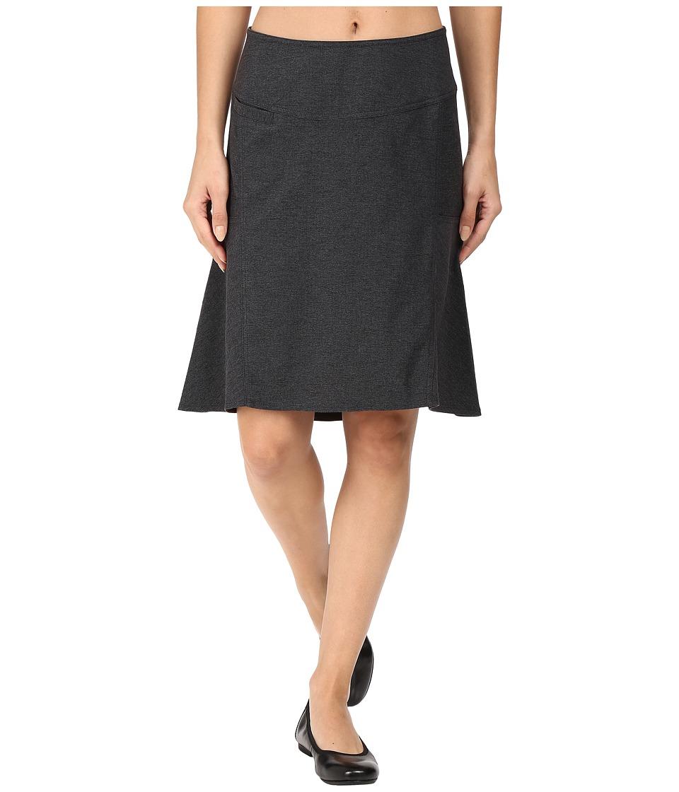 Royal Robbins Herringbone Discovery Strider Skirt (Charcoal) Women