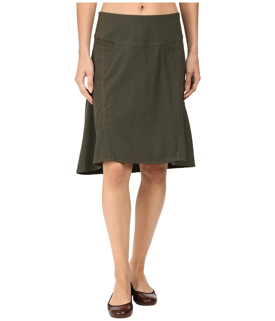 Royal Robbins - Herringbone Discovery Strider Skirt (Dark Olive) Women's Skirt