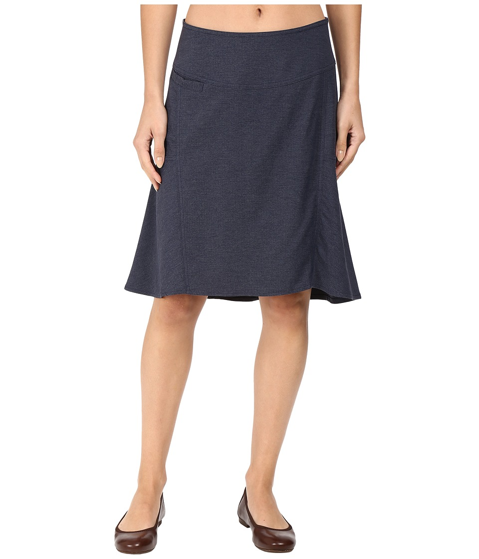 Royal Robbins - Herringbone Discovery Strider Skirt (Dark Indigo) Women's Skirt